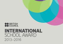International school award logo