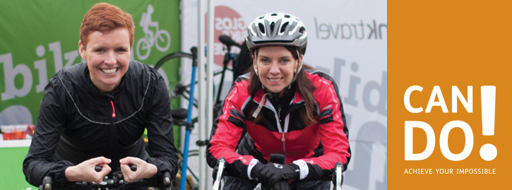 Dr Dawn Harper and Pixie McKenna, Doctors from embarrassing bodies, pose on bikes.