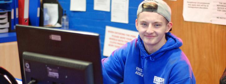 Former trainee Luke lands full-time job